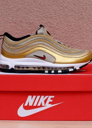 Жіночі кросівки Nike Air Max 97 Metallic Gold.
