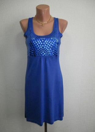 Трикотажное платье туника из вискозного трикотажа с декором tg