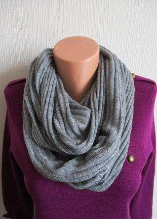 Вязаный шарф снуд с серебристой нитью star by julienmcdonald, ...