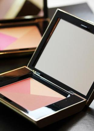Палитра для макияжа лица: румяна, пудра-хайлайтер,пудра-бронзер
