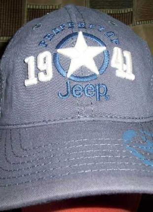 Кепка-бейсболка JEEP в наличии. Серо-голубой.