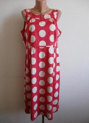 Шелковое платье в крупный горох boden