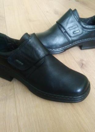 Зручні шкіряні туфлі на липучці josef seibel/удобные кожаные т...