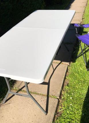 Стіл стол розкладной сад на природу lifetime лайфтайм  1.80см 1.8