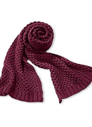 Большой теплый шарф tcm tchibo германия