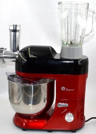 Кухонный комбайн мясорубка тестомес Domotec MS-2051 (3000W)