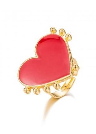 Кольцо сердце 2.6 см