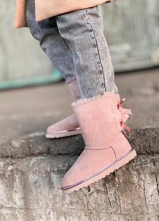 Ugg bailey bow ii pink натуральные женские зимние сапоги угги ...