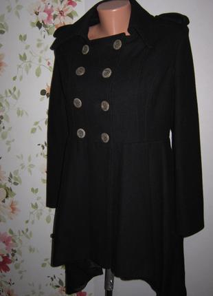 Пальто бушлат sailor шерсть ассиметрия