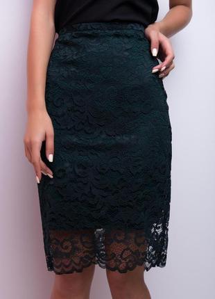 Красивая гипюровая юбка карандаш, классика, s/m