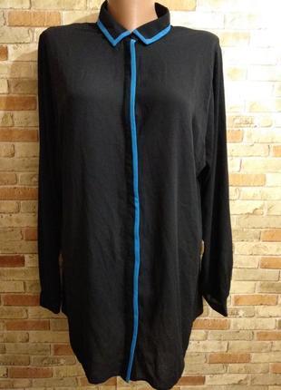 Оригинальная шифоновая блуза с кантом 16/50-52 размера