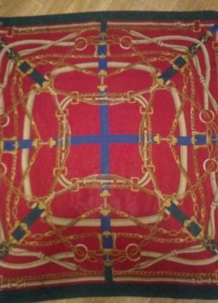 Очень красивый, большой шелковый платок италия patoly.