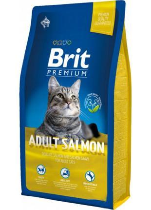Корм для кошек Brit Premium Cat Adult Salmon, 8 кг