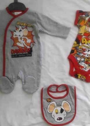 Комплект 3 предмета для новорожденного