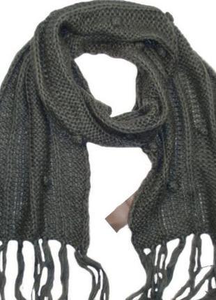 Красивый теплый вязаный женский шарф бренд pieces - дания