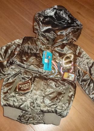 Новая деми курточка на девочку -5лет