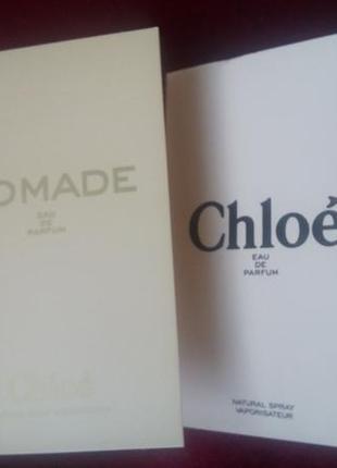 Chloe два пробника (chloe nomade eau de parfum +chloe eau de p...