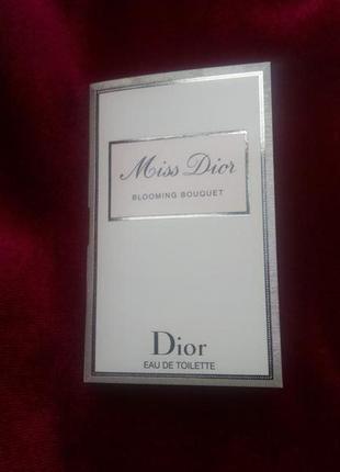 Пробник miss dior blooming bouquet от dior