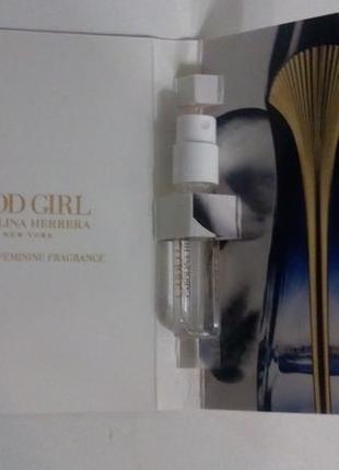 Garolina herrera good girl  new york пробник духов 1,5мл