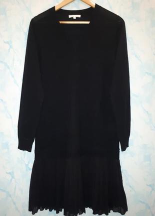 Стильное шерстяное платье прямого кроя раз. m-l