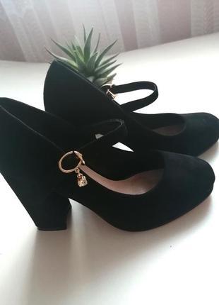 Замшеві туфельки на каблучку 🔥