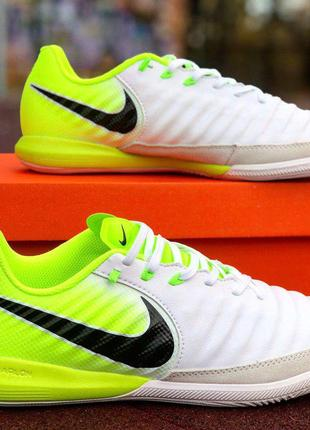 Футзалки Nike Tiempo X white/green