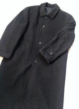 Шерстяне пальто шерстяное длинное прямое пальто overcoat