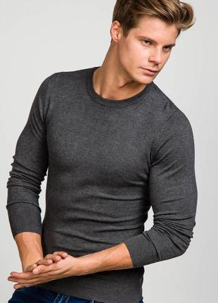 Чоловічий светер антрацитовий luis plein m/l