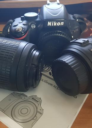 Зеркальная фотокамера Nikon D5100 + Nikkor 18-55 + Nikkor 55-200m