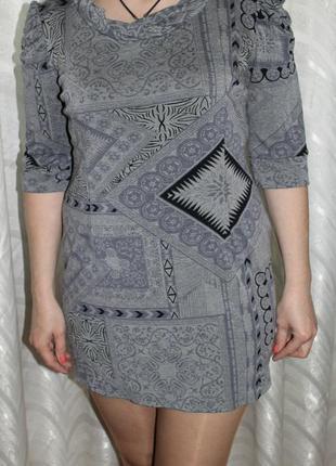 Трикотажное мини платье!