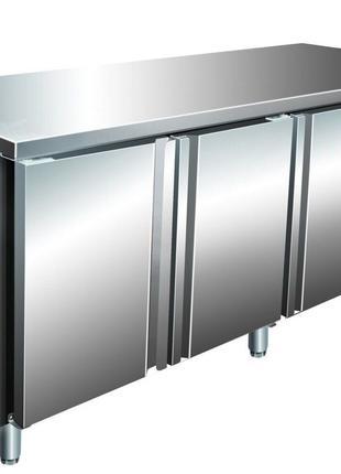Холодильный стол трёхдверный, 304 нержавейка, 60 мм изоляция