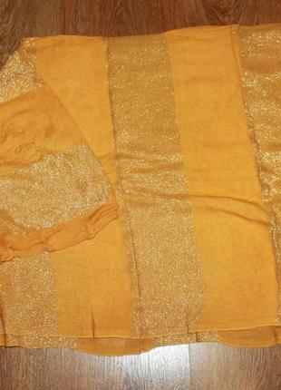 Большой палантин оранжевый 184*95 см.