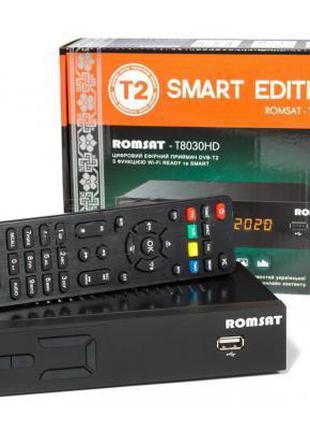 Цифровой эфирный ТВ тюнер Romsat T8030HD (DVB-T, DVB-T2 ресивер)