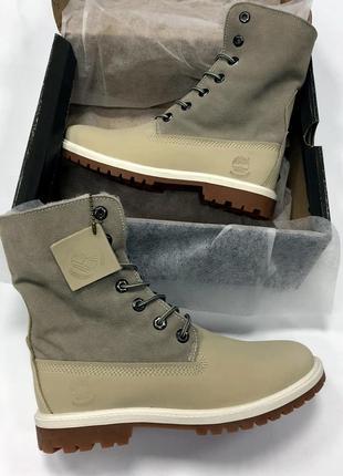 Ботинки теплие женские ❄зимние timberland с овчиной