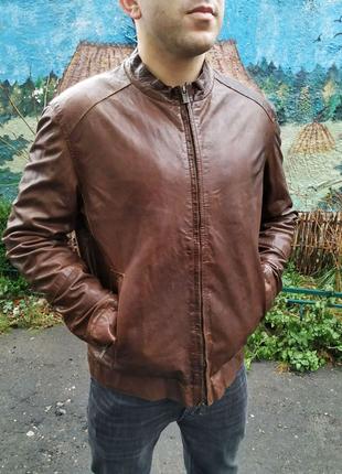 Кожаная куртка Massimo Dutti Diesel G Star All saints Brioni