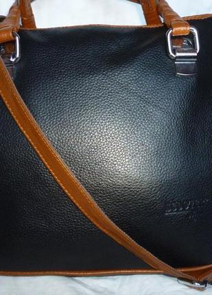 Стильная сумка натуральная кожа scooter
