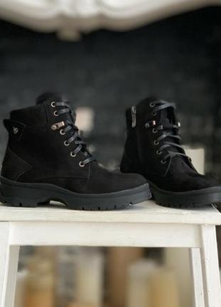 Зимние ботинки из натуральной замши!
