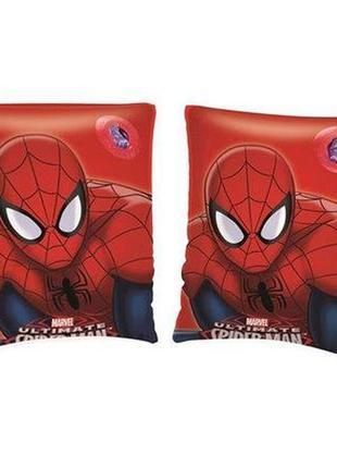 Детские надувные нарукавники для плавания bestway spider man с...