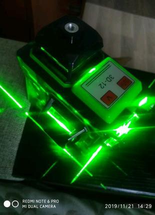 Лазерний уровень,нівелір,рівень HiLDA 3D.