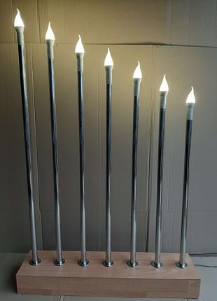 Подсветка для фотозоны (президиум, декор, канделябр).
