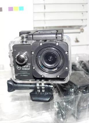 Видеокамера, экшен камера D205R с WiFi, аналог GoPro, с крепежом