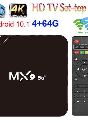 Медіаплеєр , ТВ приставка TV android box MX9- 5G 4K