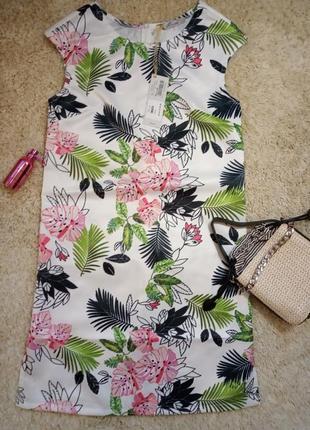 Яркое платье сарафан цветочное mivite,made in italy