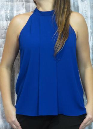 Супер топ, блуза цвета электрик 14 размер большой выбор одежды...