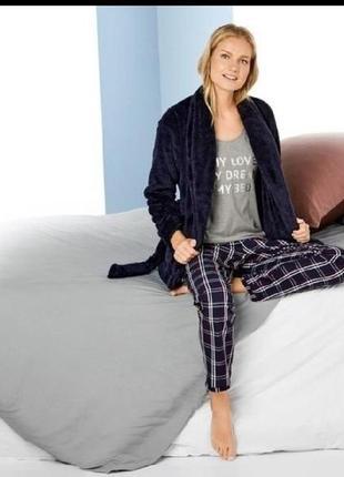 Женская пижама  3 предмета для дома и сна esmara размер наш 46/48