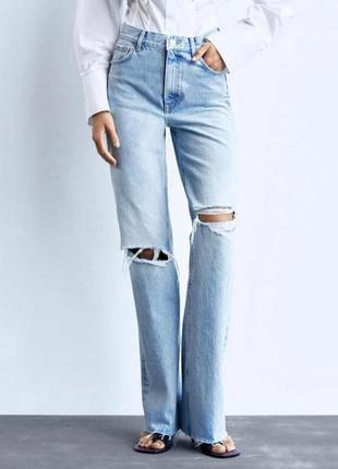 Самые крутые джинсы трубы zara