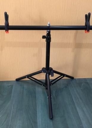 Стойка тринога Т-образная держатель для крепления фона 75×70 ф...