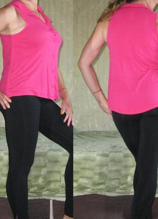 Блуза с удлиненной спинкой, с-м