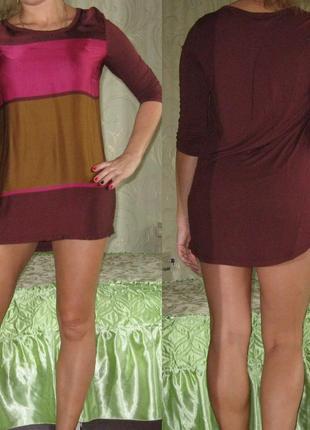Красивое платье-туника свободного покроя
