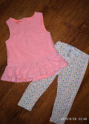 Нарядный комплект на девочку 1-2 лет